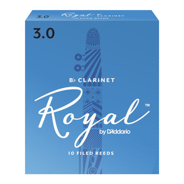D'Addario RCB1035 Rico Royal B-Flat Clarinet Reeds, Strength 3.5, Box of 10