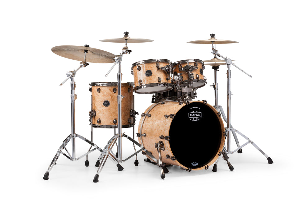 Mapex Saturn V MH Exotic Jazz 4 Piece Drum Set Shell Pack - Natural Maple Burl