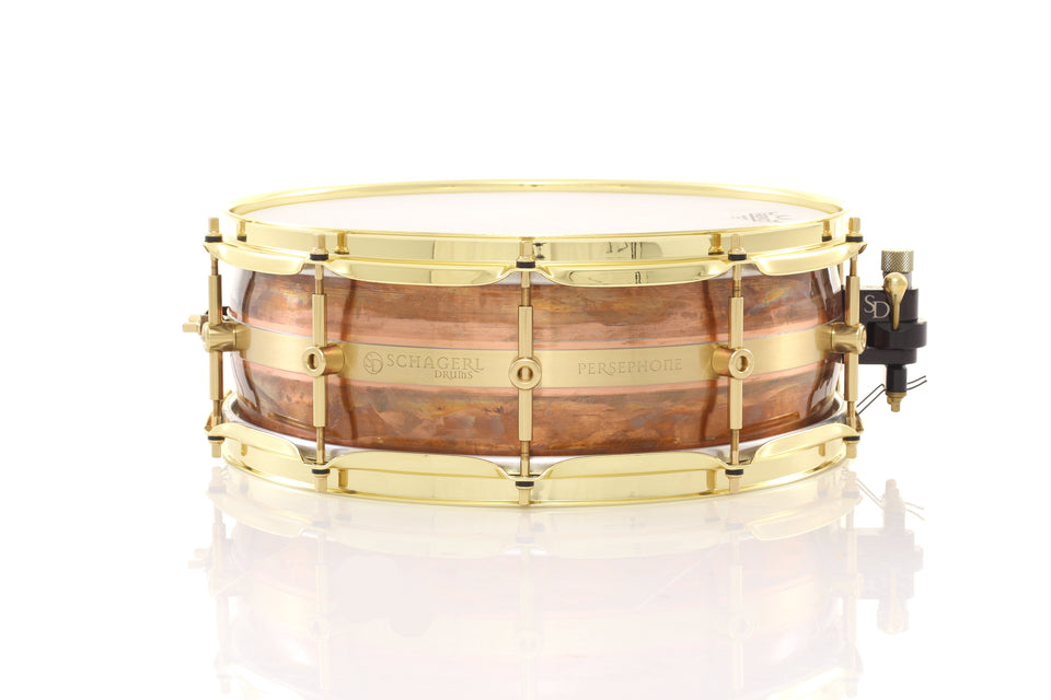"Schagerl 14"" x 5"" Persephone Snare Drum - Raw Lacquered"