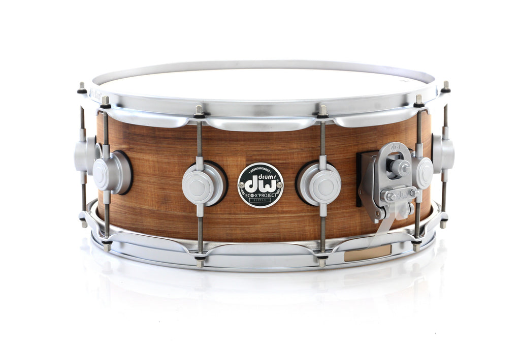 "DW 14"" x 5.5"" Eco-X Natural Banana Snare Drum With Satin Chrome Hardware"