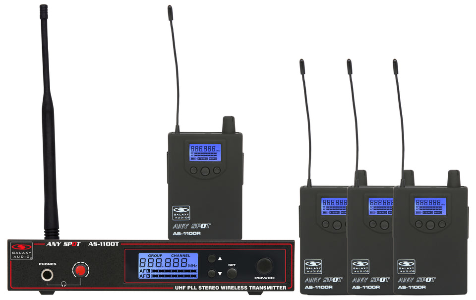 Galaxy Audio AS-1100D-4 Personal Wireless Monitoring System Band Pack