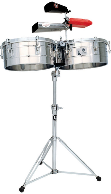 "LP LP257-S Tito Puente 14"" And 15"" Timbales - Stainless Steel"