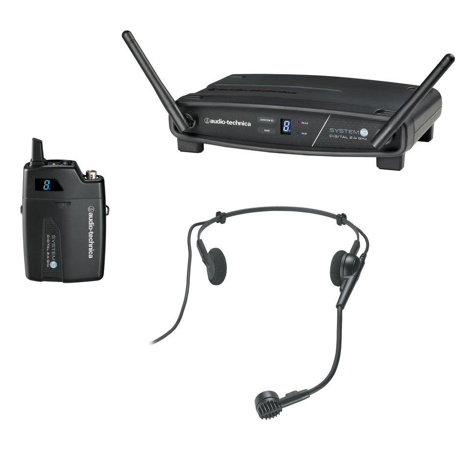 Audio-Technica ATW-1101/H Digital Headset Wireless System - 2.4 GHz