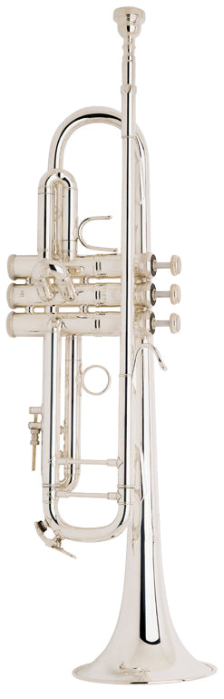 Bach LT180S72 Stradivarius B-Flat Trumpet Outfit - Silver Plated