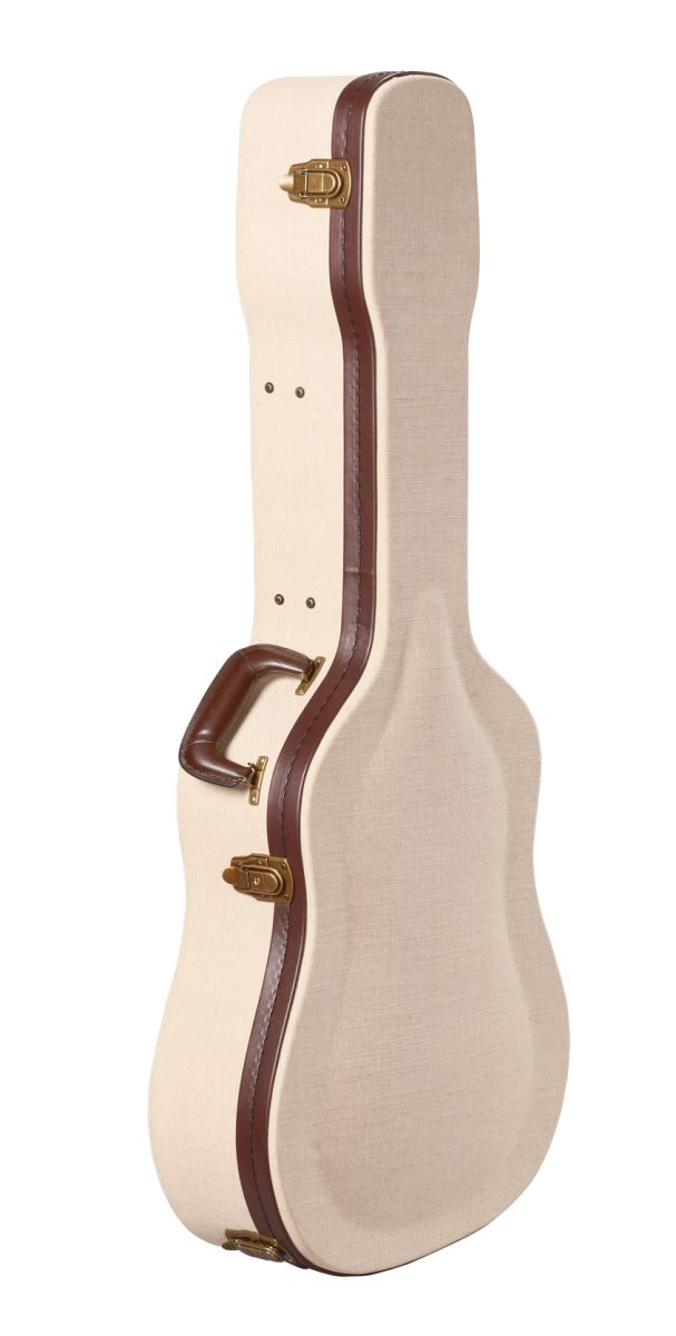Gator Cases GW-JM DREAD Deluxe Wood Case For Dreadnaught Acoustic Guitars - Journeyman Burlap Exterior