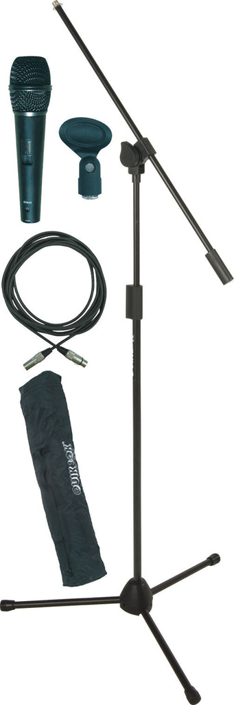 Quik Lok A-302PACK-2 Microphone Stand w/ Microphone and Accessories