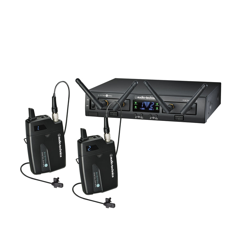 Audio-Technica ATW-1311/L System 10 PRO Dual Lavalier Microphone Digital Wireless System