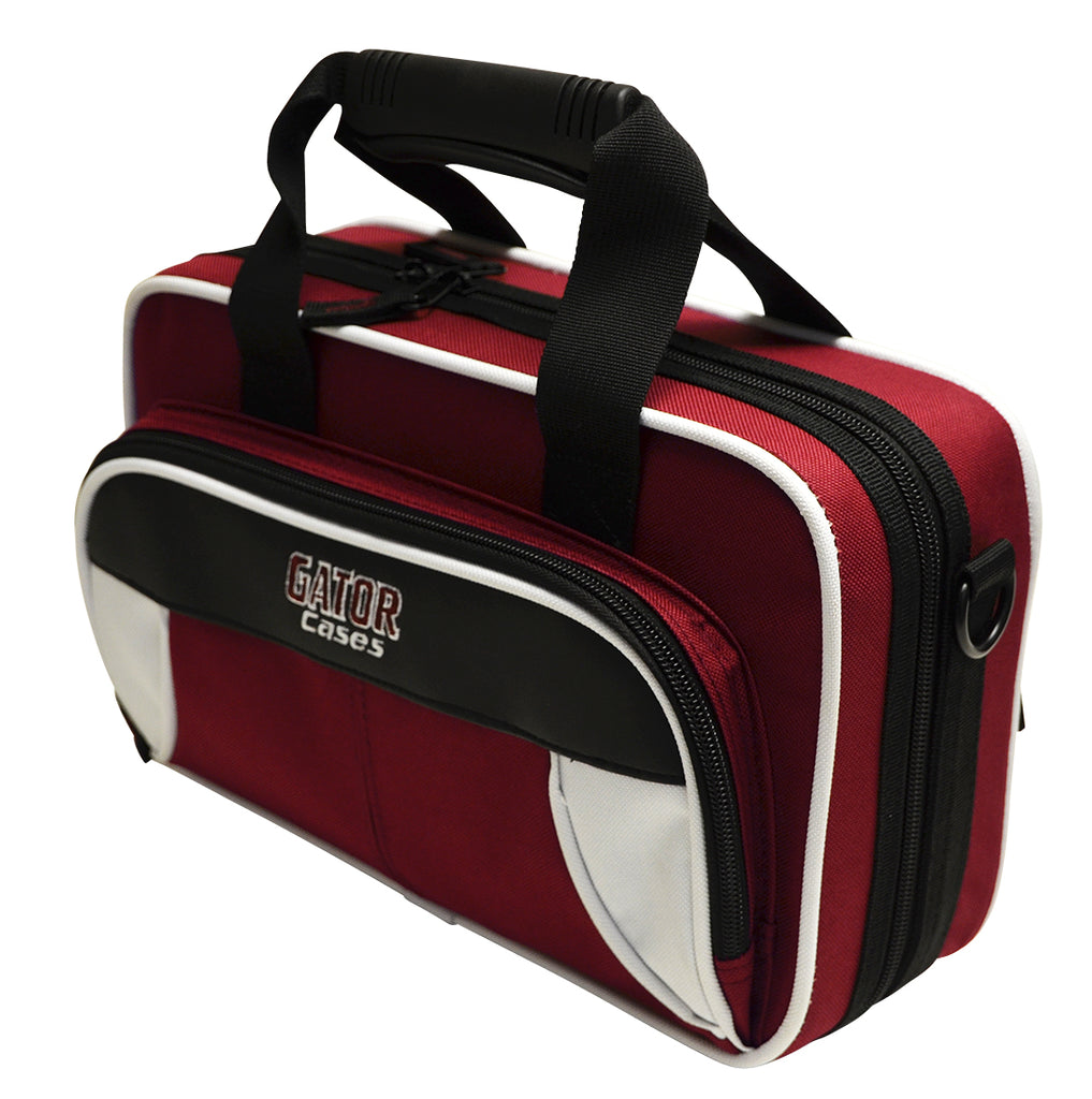 Gator GL-CLARINET-WM Spirit Series Lightweight Clarinet Case, White And Maroon