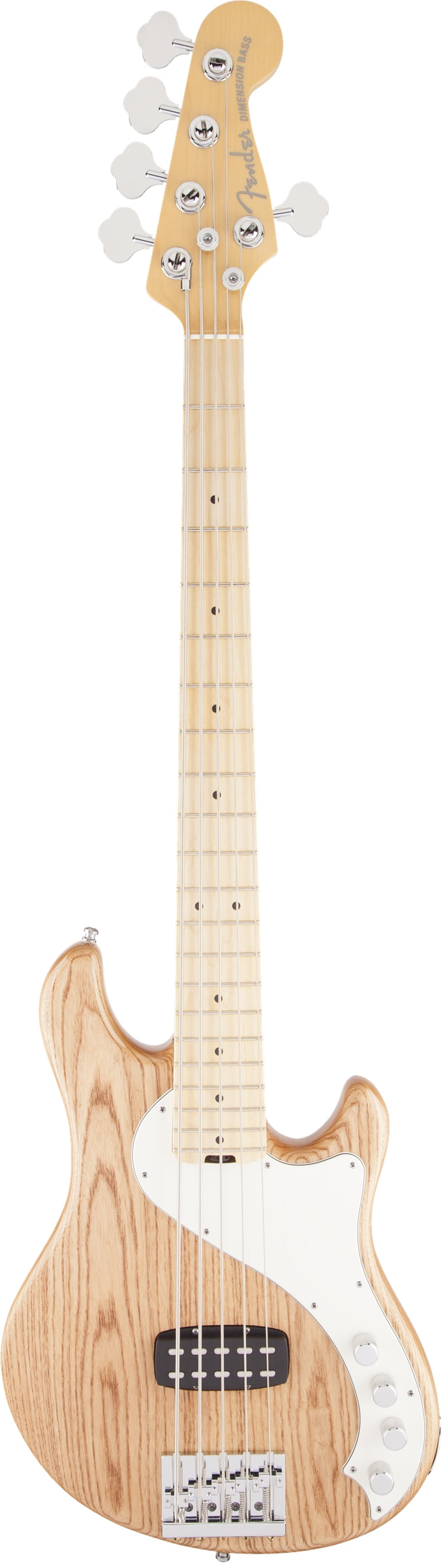 Fender American Deluxe Dimension Bass V 5 String Bass Guitar W/ Maple Fingerboard - Natural