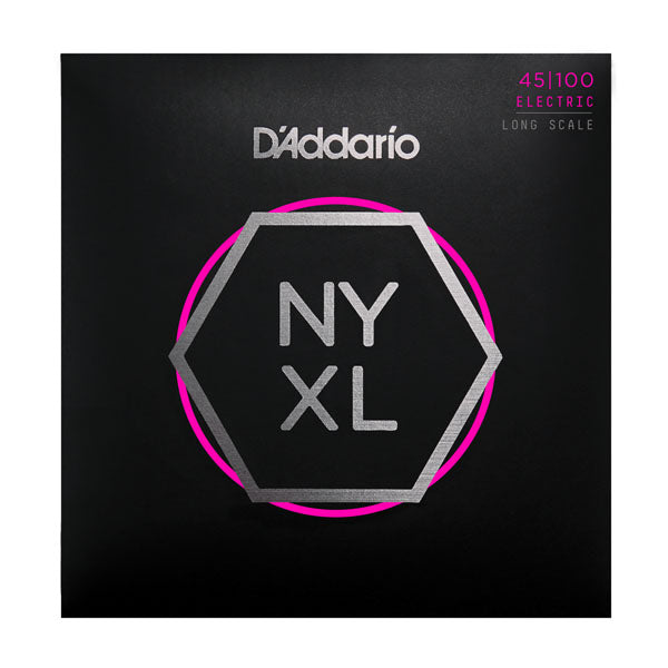 D'Addario NYXL45100 Long Scale Electric Bass Strings, Regular Light, 45-100