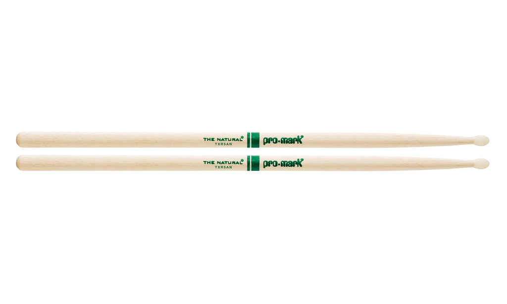 Promark TXR5AN Hickory 5A The Natural Nylon Tip drumstick