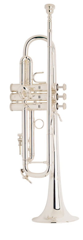 Bach LR180S43 Stradivarius B-Flat Trumpet Outfit, Silver Plated