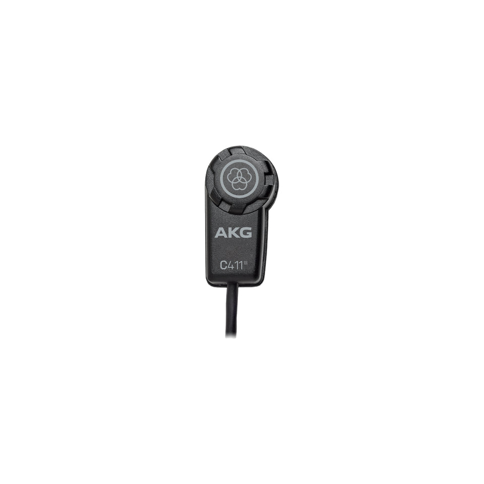 AKG C411 L High Performance Miniature Condenser Vibration Pickup W/ Mini XLR Connector