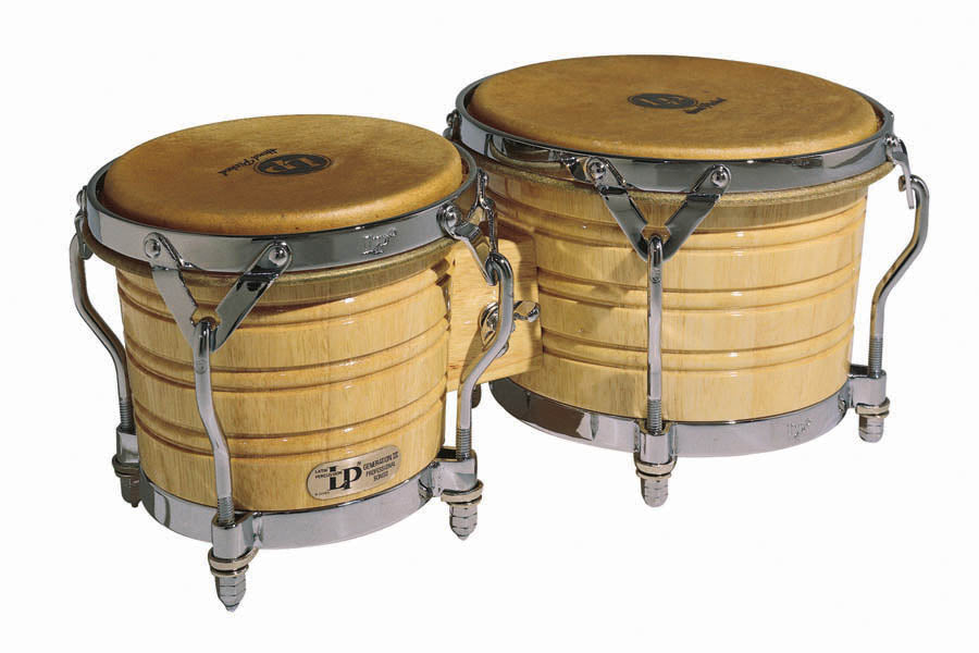 LP LP201A-3 Generation III Wood Bongos /Chrome