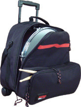 Gator GP-SNR KIT BAG Backpack Style Bag With Wheels For Snare, Stand, Sticks, And Practice Pad