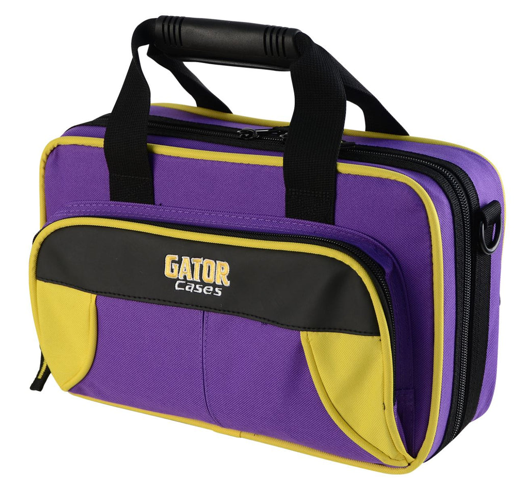 Gator GL-CLARINET-YP Spirit Series Lightweight Clarinet Case, Yellow And Purple