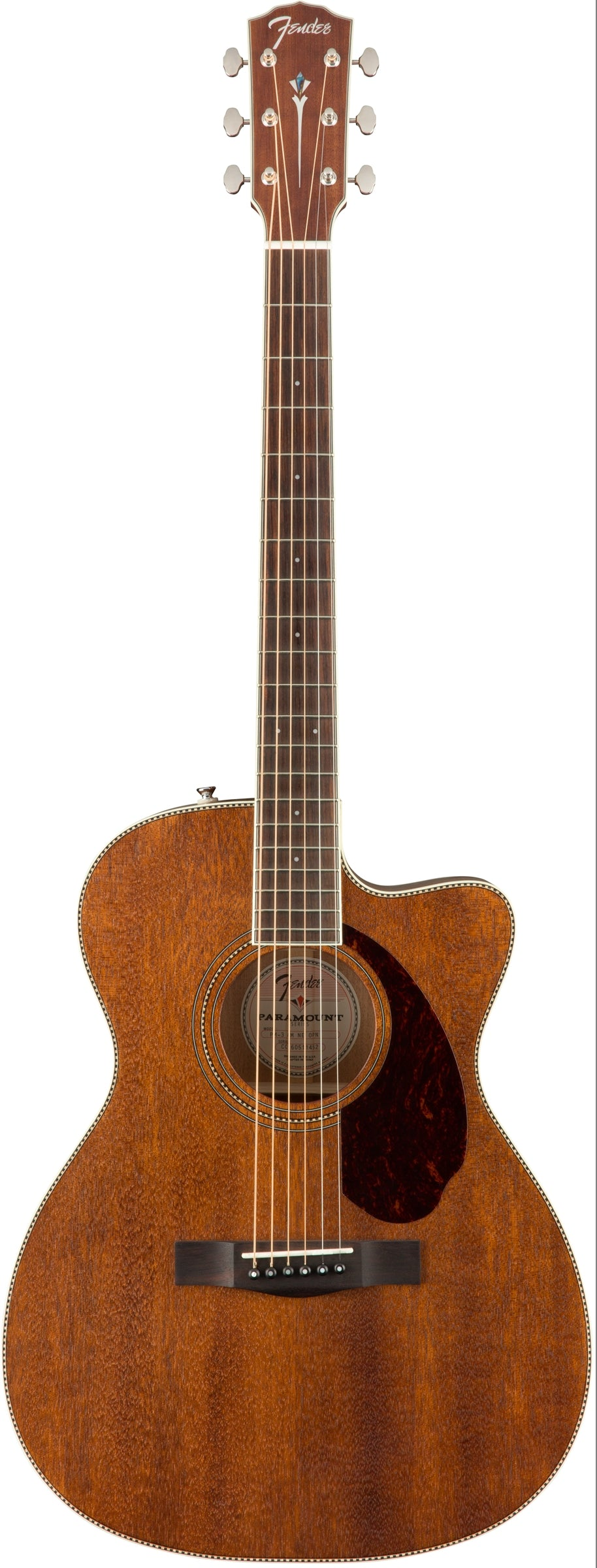 Fender PM-3 Triple 0 All Mahogany Acoustic Guitar - Natural