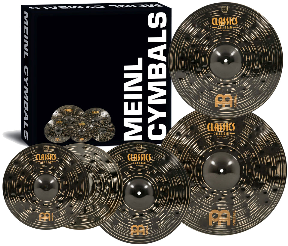 "Meinl Classics Custom Dark Cymbal Set w/ Free 18"" Crash"