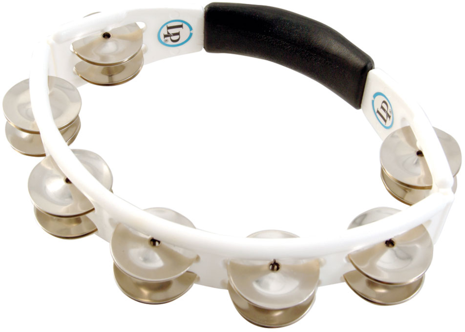 LP LP152 Cyclops Jingle Tambourine, Steel/White/Hand Held