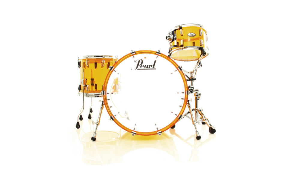 Pearl Crystal Beat 4-Piece Shell Pack Tangerine Glass