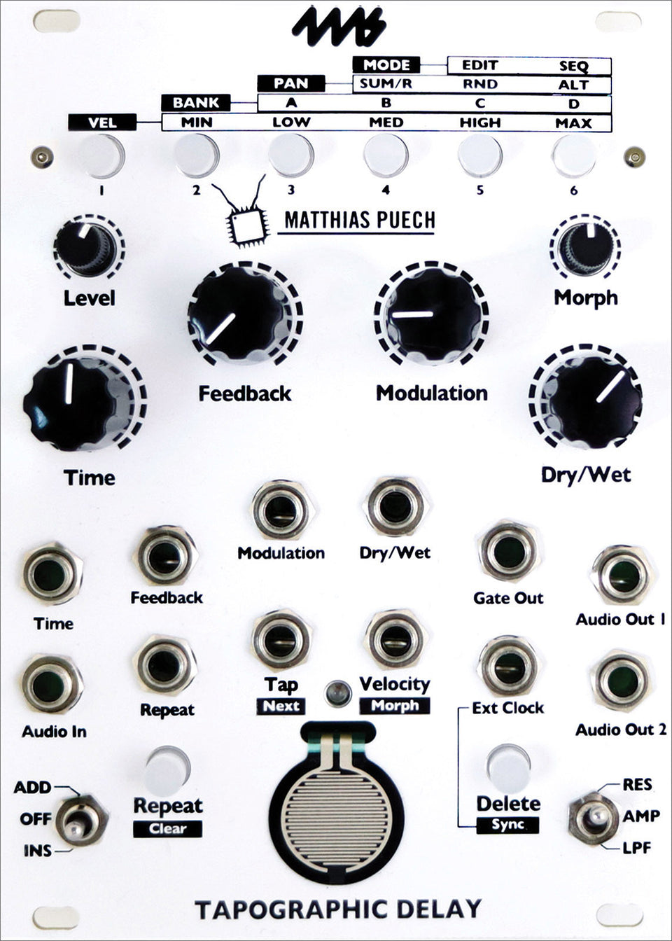 4ms TAPO Tapographic Delay Module
