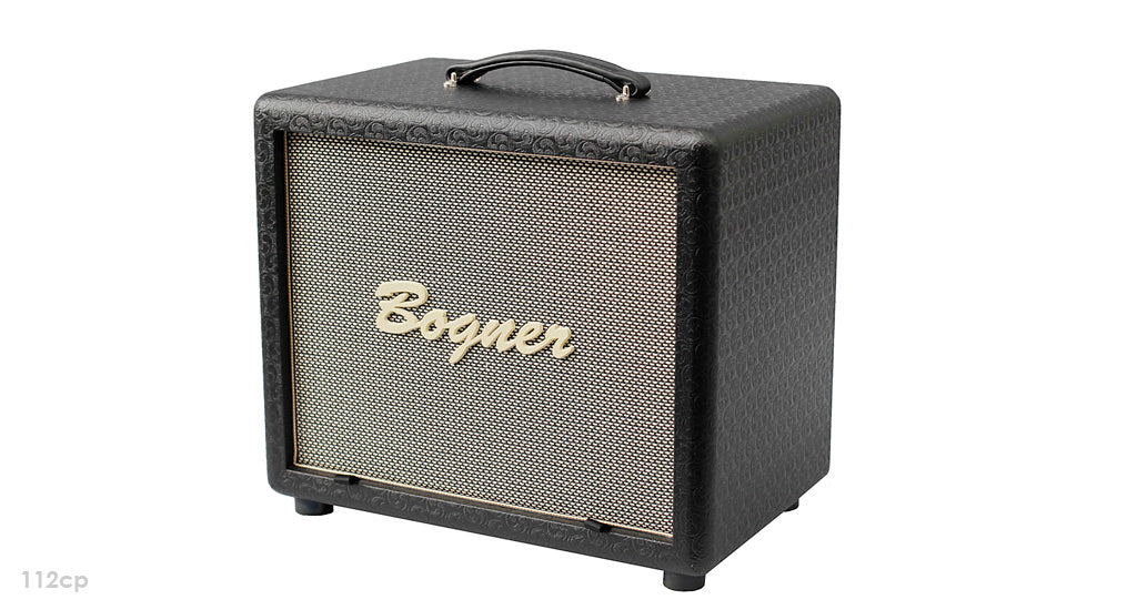 "Bogner 112CP 1x12"" Closed Back, Dual Ported Cube Guitar Cabinet - Black"