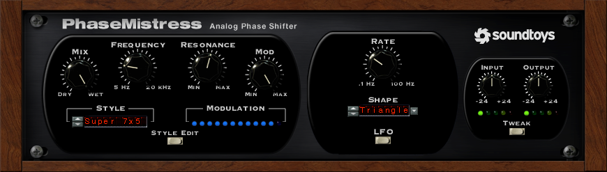 Soundtoys PhaseMistress Analog Phase Shifter Plug-In