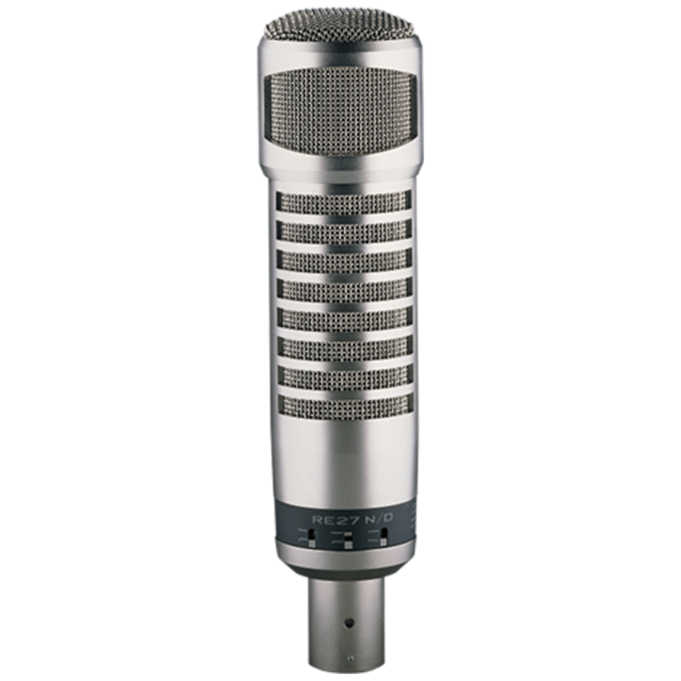Electro-Voice RE27N/D Broadcast Dynamic Microphone w/Variable-D and N/DYM Cap