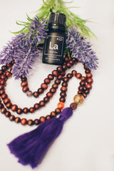 aromatherapy mala bracelet and lavender essential oil