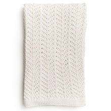 ZESTT Organic Cotton Boho Knit Throw (White)