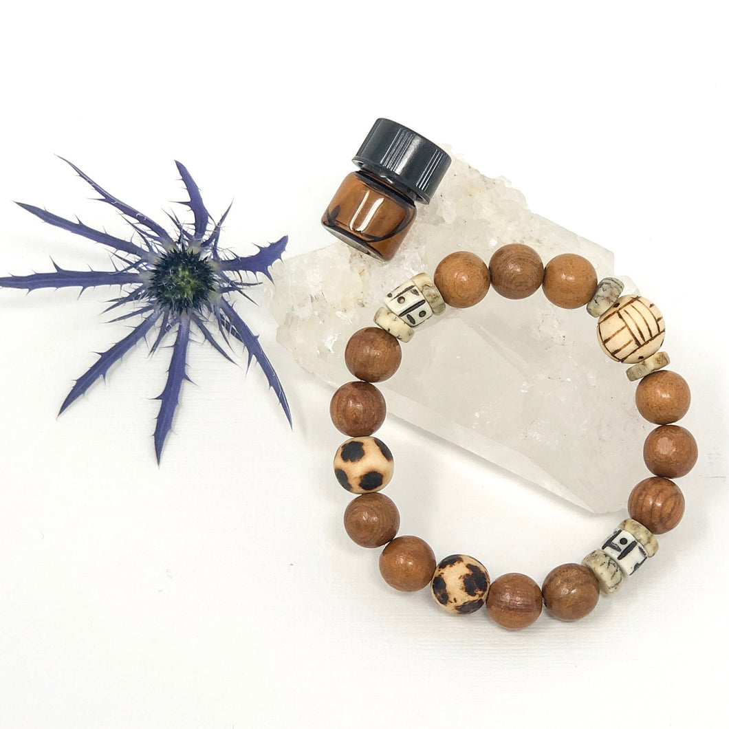 Yew Wood Neutral Diffuser Bracelet