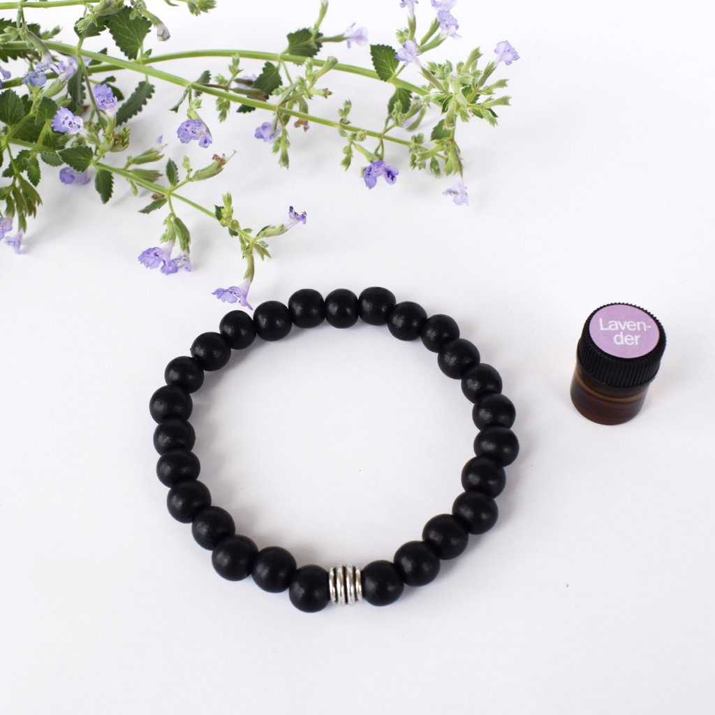 Men's Black Wood Diffuser Bracelet