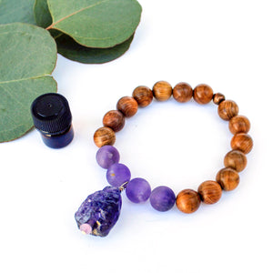 Amethyst & Rosewood Aromatherapy Diffuser Bracelet