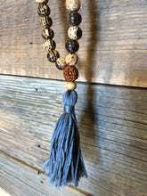 Tassel Aromatherapy Diffuser Meditation Mala Necklace  (Tiger Wood)