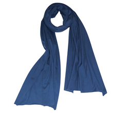 Smoky Blue Organic Cotton Knit Diffuser Scarf
