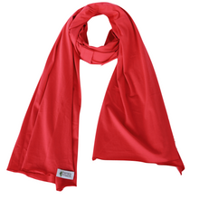 Cherry Red Organic Cotton Knit Diffuser Scarf
