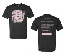 NEW DESIGN! Self Care Club Unisex T-Shirt (Gray/Pink)