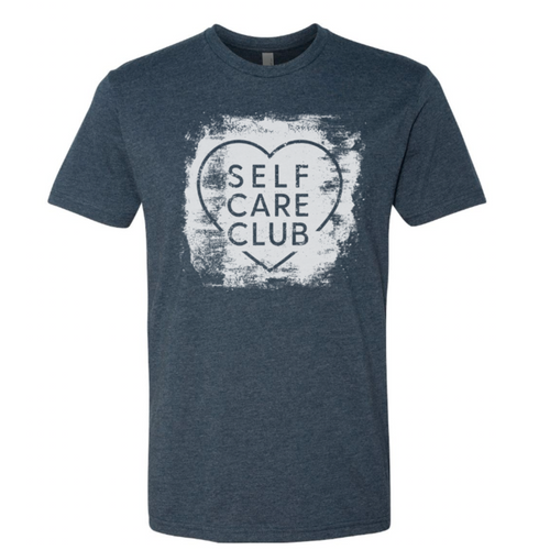 NEW DESIGN! Self Care Club Unisex T-Shirt (Navy)