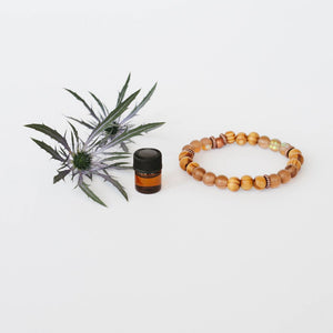 Aromatherapy Wood & Holographic Glass Bracelets