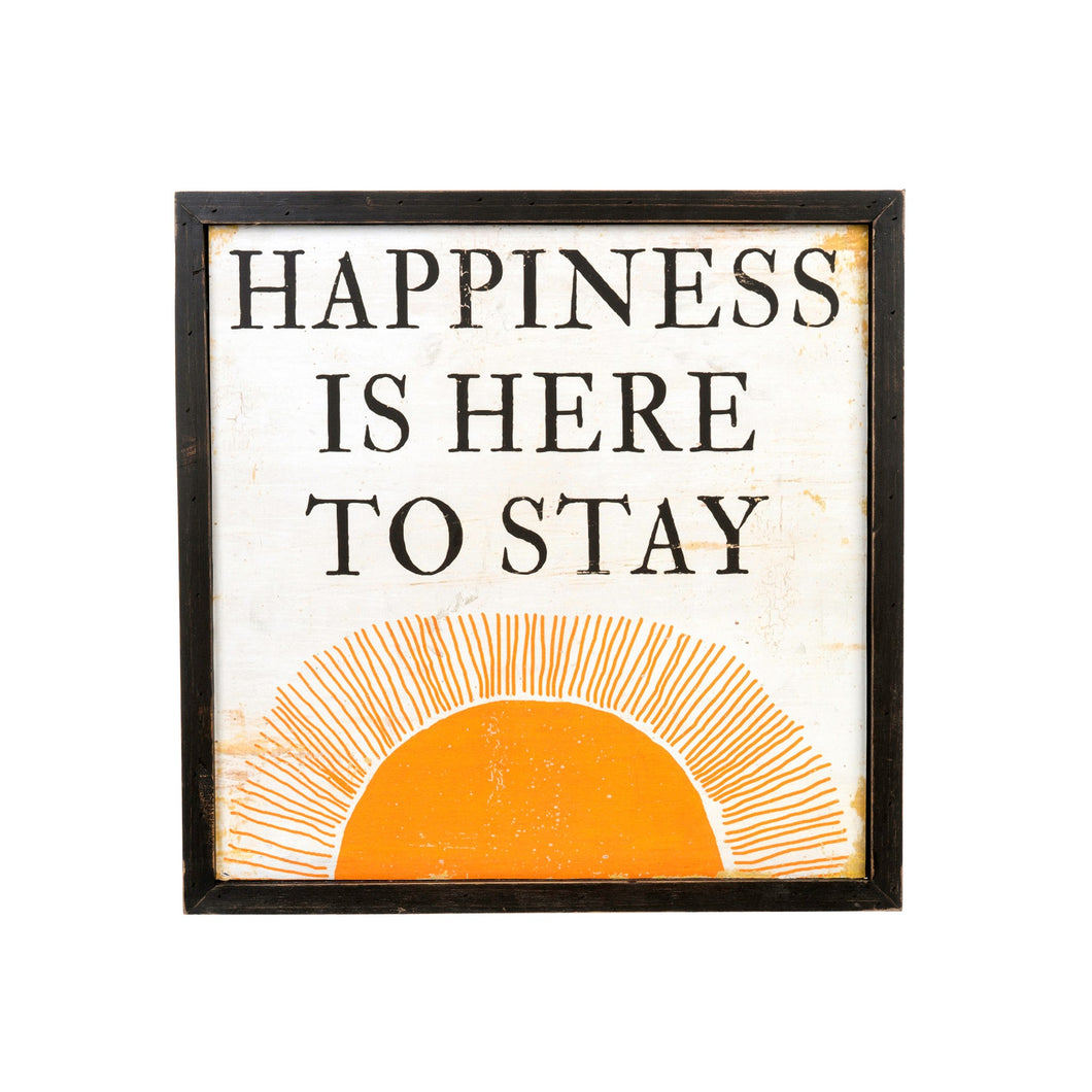 Happiness Wooden Art Print