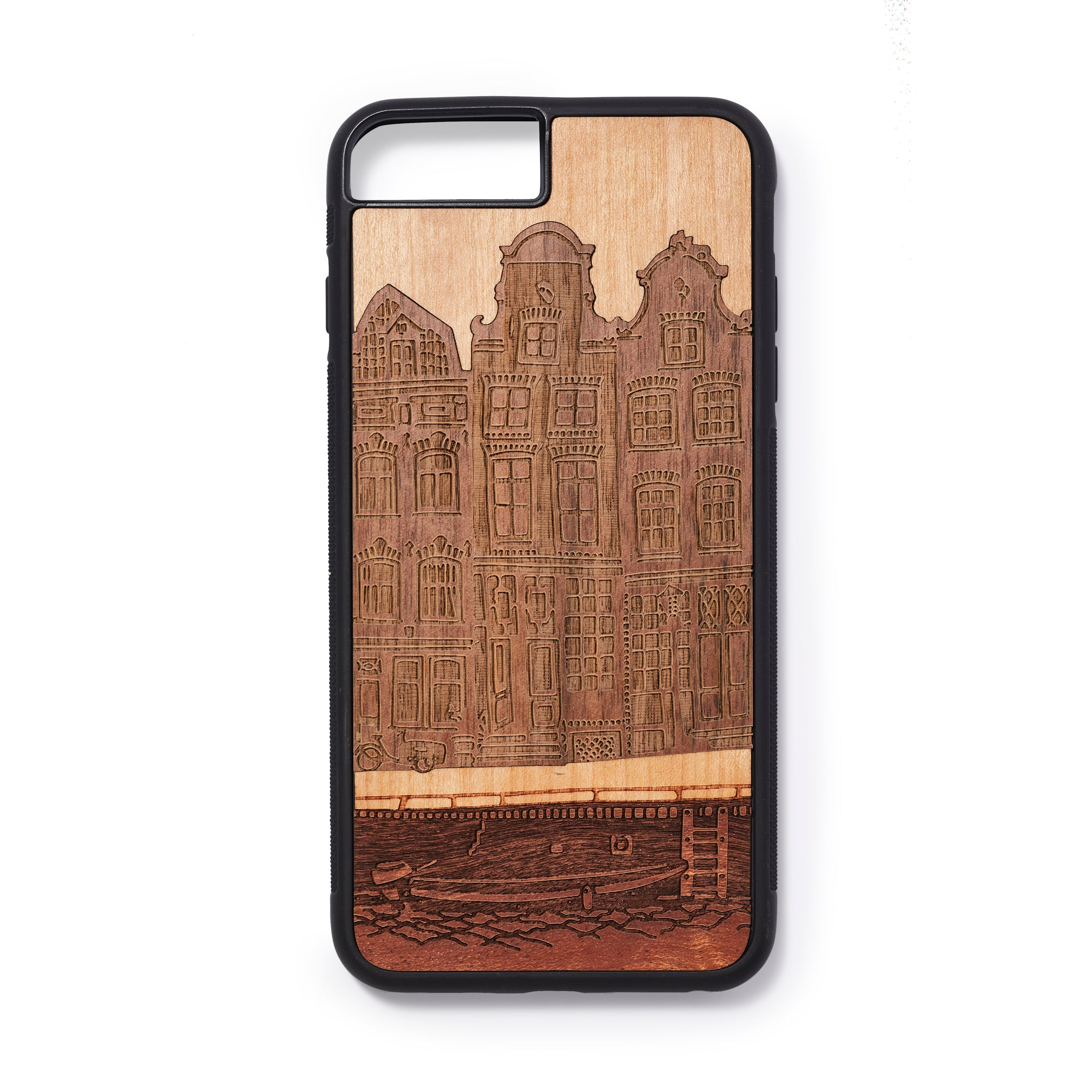 Wooden Iphone 6,7 and 8 plus back case house design - Woodstylz