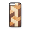 Wooden Iphone 6,7 and 8  plus back case block design - Woodstylz