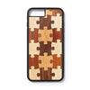 Iphone 7 en 8 plus back case puzzle design - Woodstylz