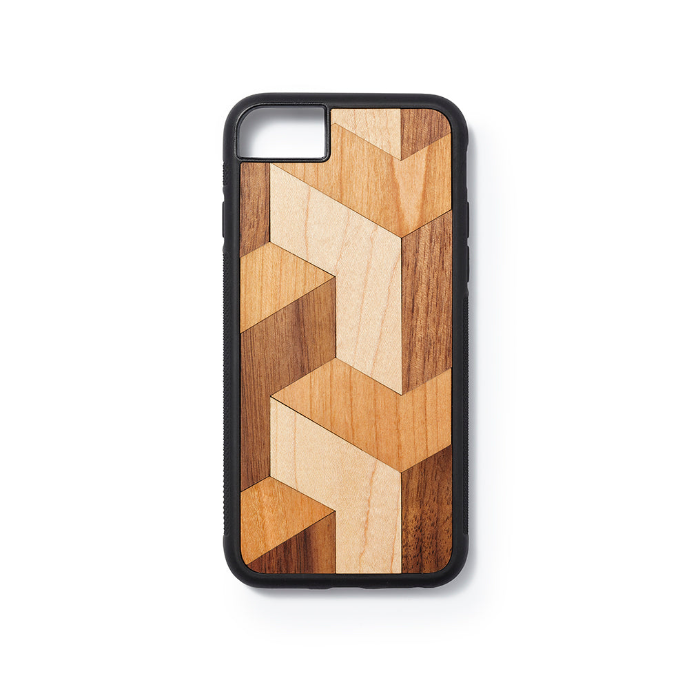 Wooden Iphone 6,7 and 8 back case block design - Woodstylz