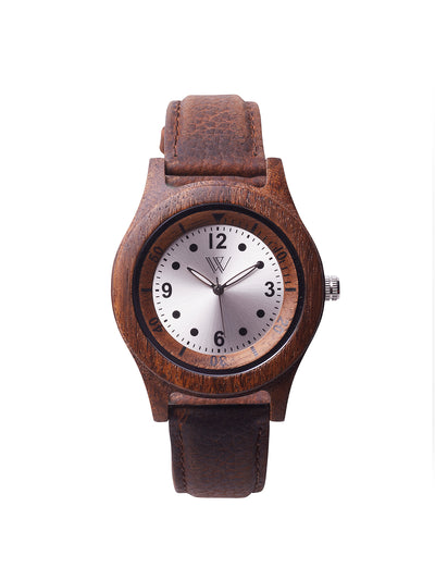 Wooden watch Koa wood and leather - Woodstylz