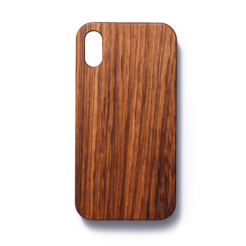 Iphone XR back case zebrano - Woodstylz