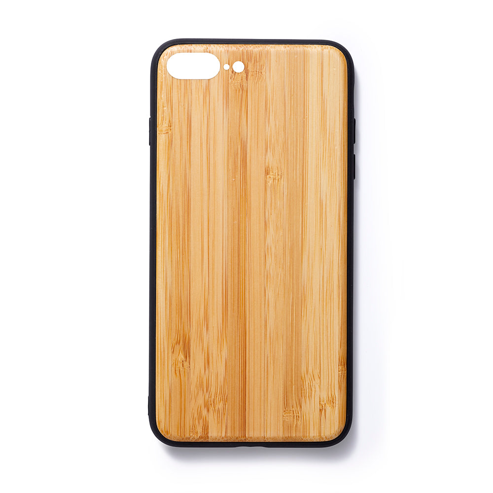 Wooden Iphone 6,7 and 8 plus back case bamboe slim fit - Woodstylz