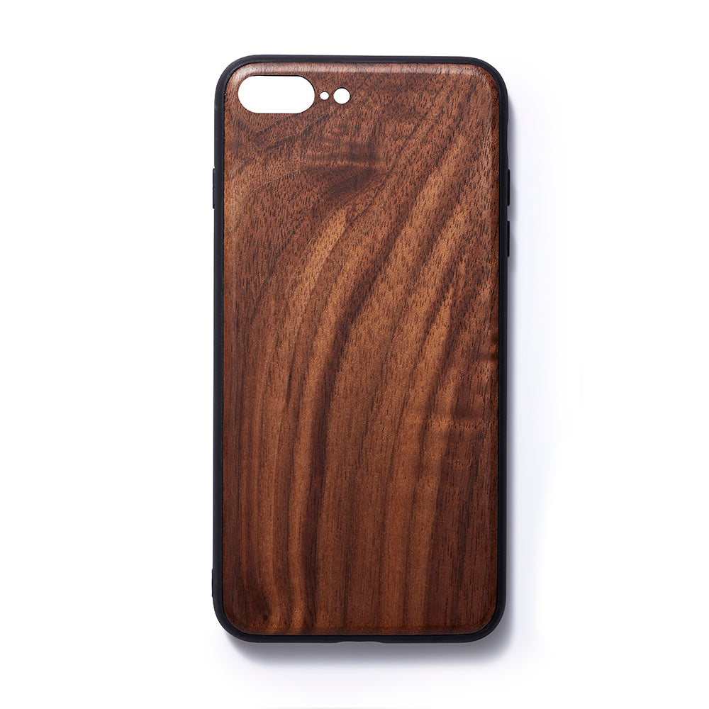 Wooden Iphone 6,7 and 8 plus back case walnut slim fit - Woodstylz
