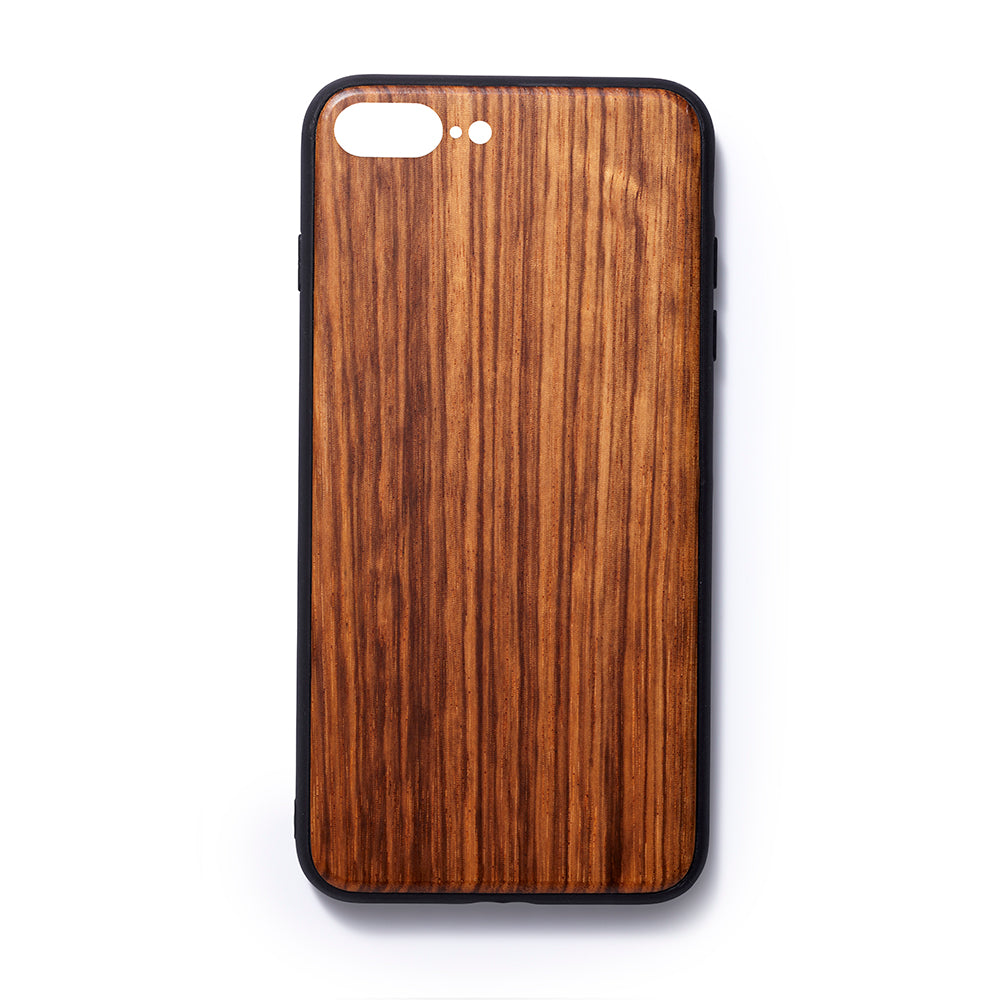 Wooden Iphone 6,7 and 8 plus back case zebrano slim fit - Woodstylz