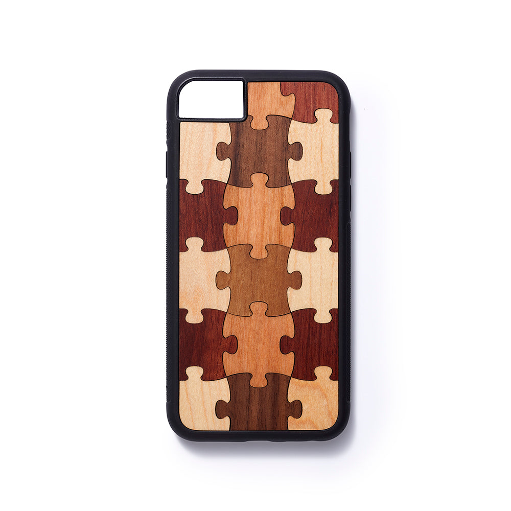 Wooden Iphone 6,7 and 8 back case puzzle - Woodstylz